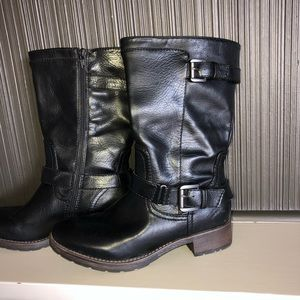 Sonoma Side Zipper Buckle Casual Mid Calf Boots